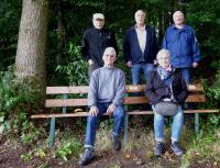 Auf dem Foto sind zu sehen (von links nach rechts): Heinrich Georg Pastoors, Rolf Vetter, Hans-Erich Trapp, Anke Trapp, Bernd Dreute
