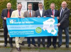 Das Foto zeigt v.l.n.r.: Andreas Reinéry, Michael Stojan, Hans-Peter Hasenstab, Olaf Kasper, Paul Wagener, Walter Kiß