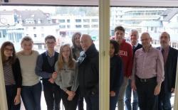 Foto: Die Gäste aus Lille mit Christian Scheerer, Dr. Michael Klauke und Friedrich Wilhelm Stahlschmidt (v.r.)