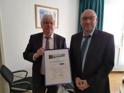 Alfred Richter (Geschäftsführer SVB) und Michael Kass (Kämmerer)