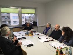 Das Foto zeigt Stadträtin Blümel und Mitglieder des Verfügungsbeirates